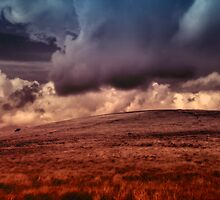 Dartmoor sitting under a vast stormy sky. by maratshdey