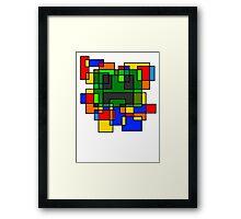 Neoplastic Creeperface Framed Print
