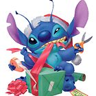 Stitch with christmas gifts by LilooCola