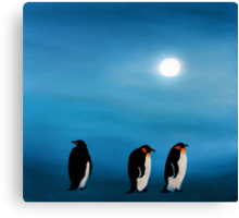 Pick-up-a-Penguin! Canvas Print