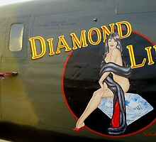 Diamond Lil - Bomber Aircraft Art by Amy McDaniel
