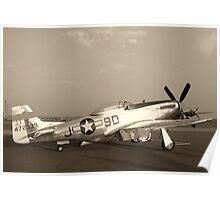 P-51 Mustang Fighter Plane - Classic War Bird Poster