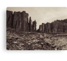 Moab Utah Hwy 128 Sandstone Cliffs Holga Photograph Canvas Print