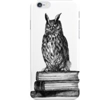 Library owl  iPhone Case/Skin