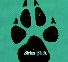 Sirius Black Paw Print Art by geekchicprints