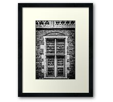 Coat of Arms Window Framed Print