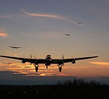 Lancaster - Dawn Return by warbirds