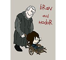 Bran & Hodor - Game of Thrones / Calvin & Hobbes Photographic Print