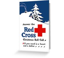 Answer The Red Cross Christmas Roll Call Greeting Card
