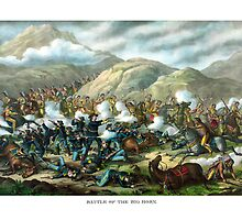 Battle Of The Big Horn -- General Custer by warishellstore
