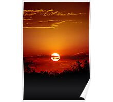 Bushfire Sunset Poster
