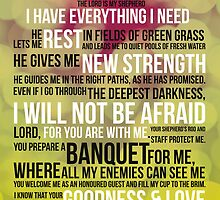 PSALM 23 - THE LORD'S PRAYER by Tangldltd