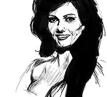 claudia cardinale by Philip Painter