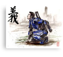 Kaidan from Mass Effect series Sumie style Righteousness Canvas Print