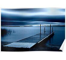 Blue Dawn - Leech Lake, MN Poster