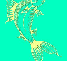 Turquoise Fish Illustration by WeAreGolden