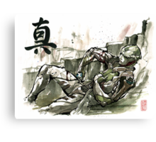 Thane from Mass Effect series Sumie Style with TRUTH Canvas Print