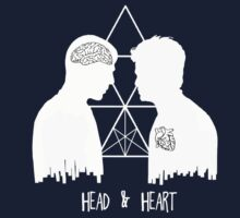 Kirk/Spock - Head/Heart  //on dark colours// by SallySparrowFTW