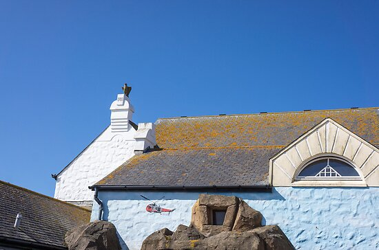 white buildings at land's end by Anne Scantlebury