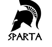 Black Spartan Helmet by ZyzzShirts