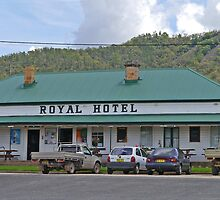Royal Hotel, Black Stump Way, Tambar Springs, NSW, Australia by Margaret  Hyde