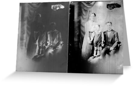 Glass negative family portrait by David Fraser