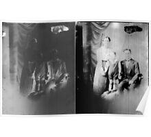 Glass negative family portrait Poster