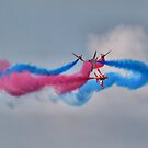 And Breeeak !!! Red Arrows - Dunsfold 2013 by Colin J Williams Photography