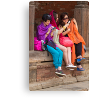 Nepalese youth Canvas Print