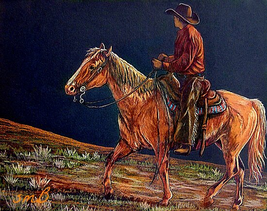Sunset Ride by Susan Bergstrom
