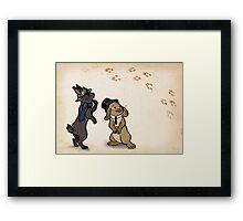 Sherlock and Watson Bunnies Framed Print