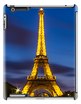 Eiffel Tower ipad case by John Velocci