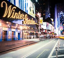 Times Square and Broadway at Night - New York City by Vivienne Gucwa
