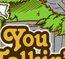 Oscar the grouch Sticker