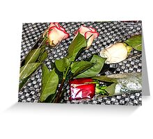 Roses on the Table Greeting Card
