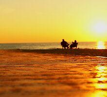Lake Michigan sunset couple by Winnie39