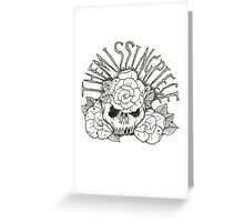 skull with roses Greeting Card