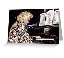 The Jazz Pianist 2 Greeting Card