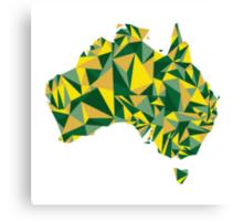 Abstract Australia Wattle Gold Canvas Print
