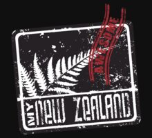 My New Zealand Fern -Black T shirt is awesome by yolan