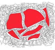 Collage red doodle by eliso silva