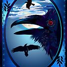 Ravens in Moon Shine by Lotacats