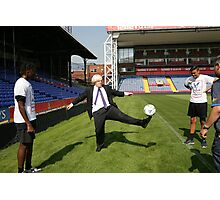 Boris Johnson visits Crystal Palace Football Club Foundation Photographic Print
