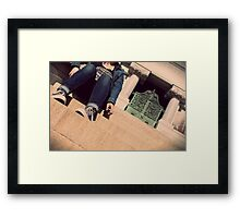 Chucks and Cigarettes Framed Print