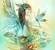 """THE AQUARIUS"" - Protective Angel for Zodiac Sign by Anna Ewa Miarczynska"