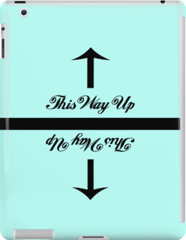 This Way Up iPad Case by pearloil