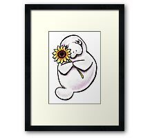 Sunny Manatee Framed Print