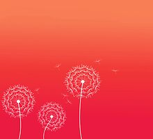 Red Sunset dandelion in spring by silvianna