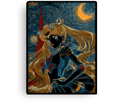 Usagi and the Starry Night Canvas Print