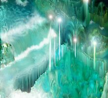 Waterfalls through Crystal Mountain Labyrinth by jeannius